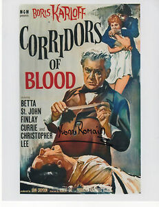 CORRIDORS-OF-BLOOD-signed-10x8-YVONNE-ROMAIN-as-ROSA