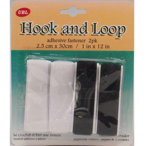 4 x 20 mm Hook /& Loop Adhésif Attache Arts Crafts Hobby bande à coudre Bandes