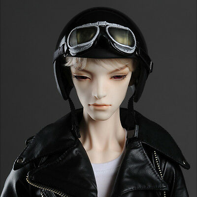 Dollmore BJD NEW 8-9 Black Max Jet Helmet