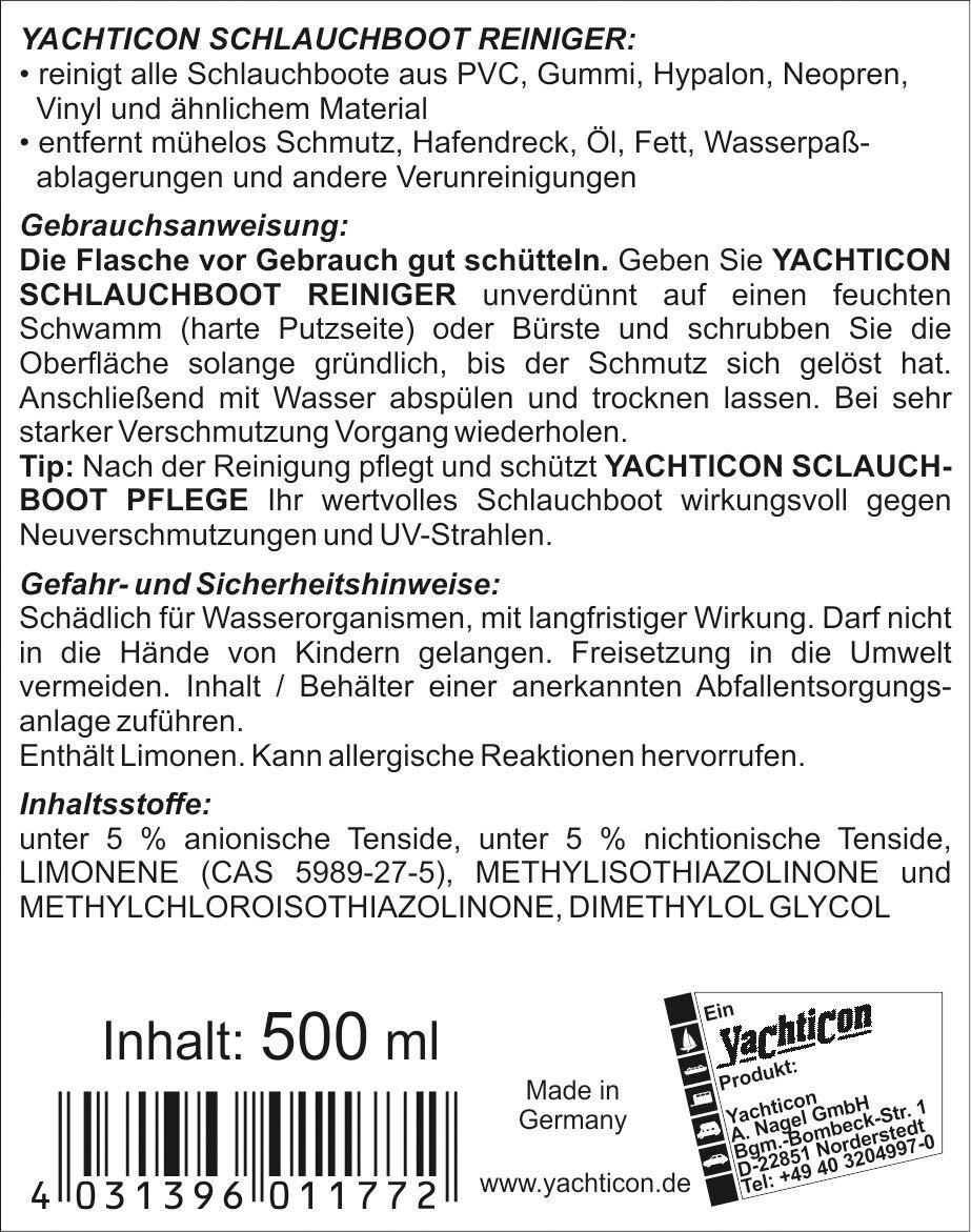 Yachticon SchlauchStiefel SchlauchStiefel SchlauchStiefel Reiniger Set - PVC, Hypalon & Gummi SchlauchStiefele 5a7d09