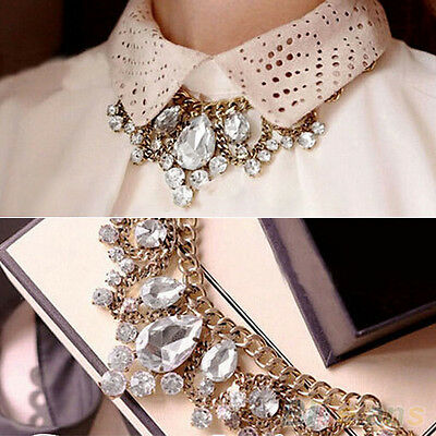 Women Hot Charming Crystal Rhinestone Choker Collar Chain Drop Pendant Necklace