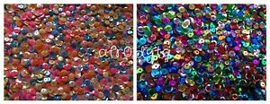 3-FOR-2-CLEARANCE-10g-Loose-Round-Cupped-Sequins-Paillettes-6mm-7mm