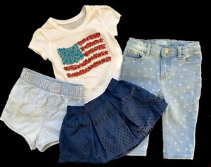 5bfef2448497 BABY GAP Girl s CLOTHING LOT Denim JEANS Skirt Shorts PLACE Top Sz ...
