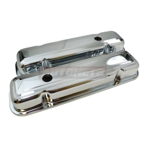 59-79 PONTIAC Short Stock VALVE COVER  326 389 330 350 428 455 V8 CHROME STEEL