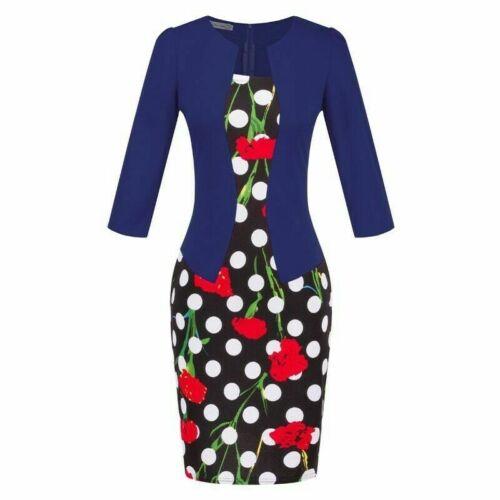 Business Pencil Belt Sheath Party Bodycon Dress Office Women Work Elegant Formal
