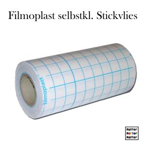 Stickvlies-selbstklebend-20cm-breit-Filmoplast-1m-2m-5m-schwarz-o-weiss