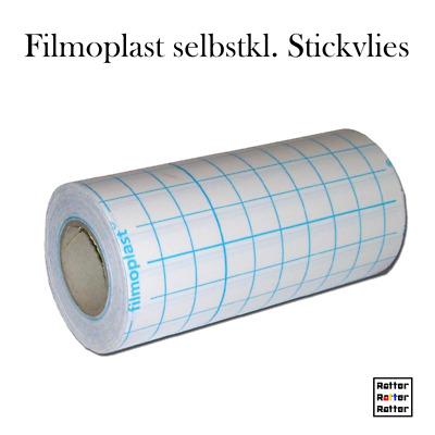 schwarz o Stickvlies selbstklebend 65cm breit Filmoplast 1m 2m weiß 5m 25m