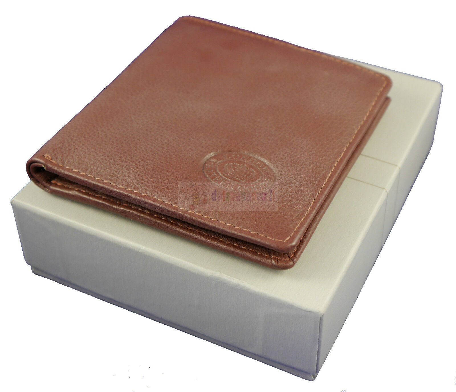 Quality Real Leather Bifold Wallet For Men With Gift Box Option Black / Mahogany