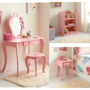 Amelia Pink White Bedroom Furniture Heart Girls Girl S Vanity Table Etc Ebay