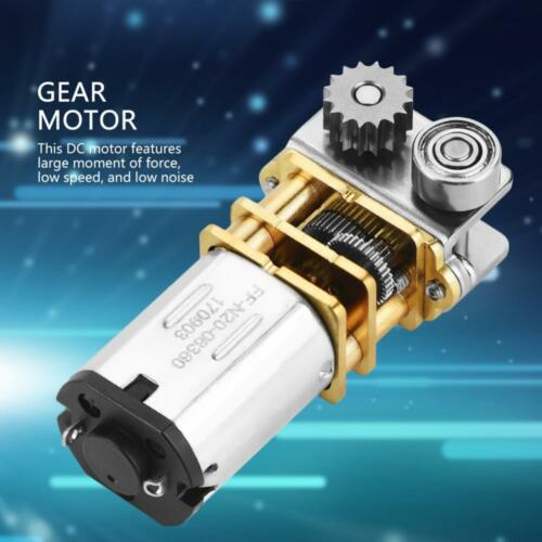 12V 11RPM N20 Right Angle Metal Gearbox Micro Gear Motor for 3D Printing Pen MS
