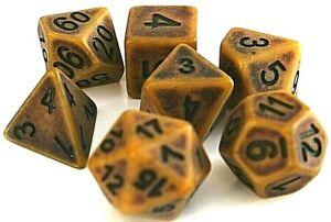 RPG-7-teiliges-Wuerfel-Set-PolyDND-Rollenspiel-Gold-Tabletop-w4-w20-dice4friends