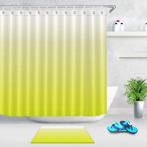 Image Is Loading Gradient Bright Yellow Shower Curtain Liner Waterproof Mildew