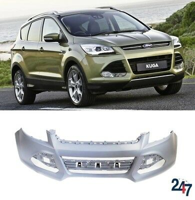 NEW FORD KUGA 08-12 FRONT BUMPER WITH FOG LIGHT HOLES PRIMED