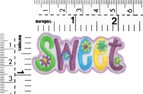 #2196IR Small Love Peace Message Embroidered Sew Iron on Patch Badge 1inchTall