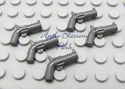 Lego Weapon 2x DB Gray HAND GUNS Revolver Pistol Indiana Jones//Police ☀️NEW