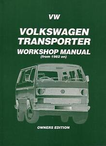 workshop repair manual vw kombi van transporter 82 89 ebay rh ebay com au Old Volkswagen Transporter Volkswagen Bus Transporter