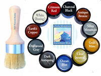 Chalk Furniture Wax Brush Lg Boar Bristle & 4 Oz Wax..choose From 11 Colors