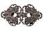 Arte plena plata Trachten curvada delantal bávara estable 65x35mm 1 piezas