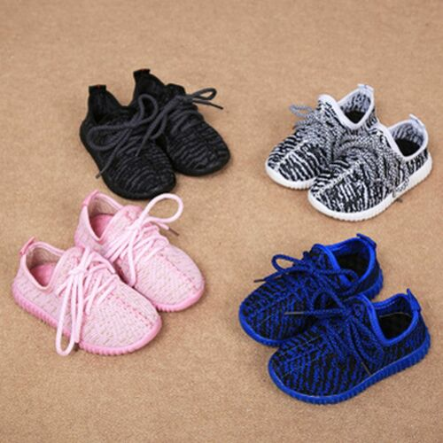 WOO Children Kids Sports Running Shoes Boys Girls Trainers Lace Up Sneaker New
