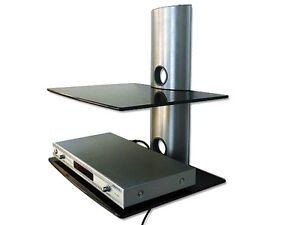 GLAS-HALTERUNG-PASST-FUR-Wii-PS3-PS4-KONSOLE-ABLAGE-TRAGER-REGAL-WANDHALTER-GL2