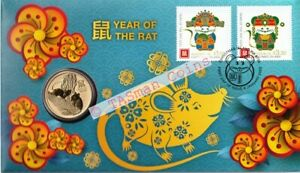 PNC Australia//Christmas Island 2020 Lunar New Year RAT Perth Mint $1 Coin