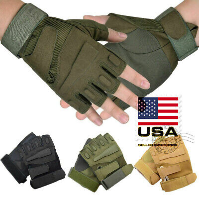 Details about  /Army Military Tactical Half Finger Gloves Outdoor Motorcycle Hunting Mittens NEW