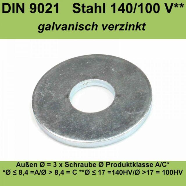 /Ø 8,4 Unterlegscheiben 100 St/ück DIN 125 Form A verzinkt
