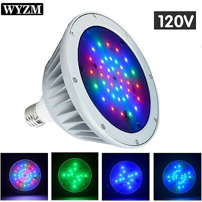 LED Pool Light Bulb 40W 120Volt Color Changing for Pentair Hayward Inground  Pool
