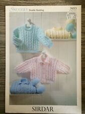 2627ef4e35a4 Vtg Sirdar DK Knitting Pattern 3953 Babies Jacket   Sweater Jumper ...