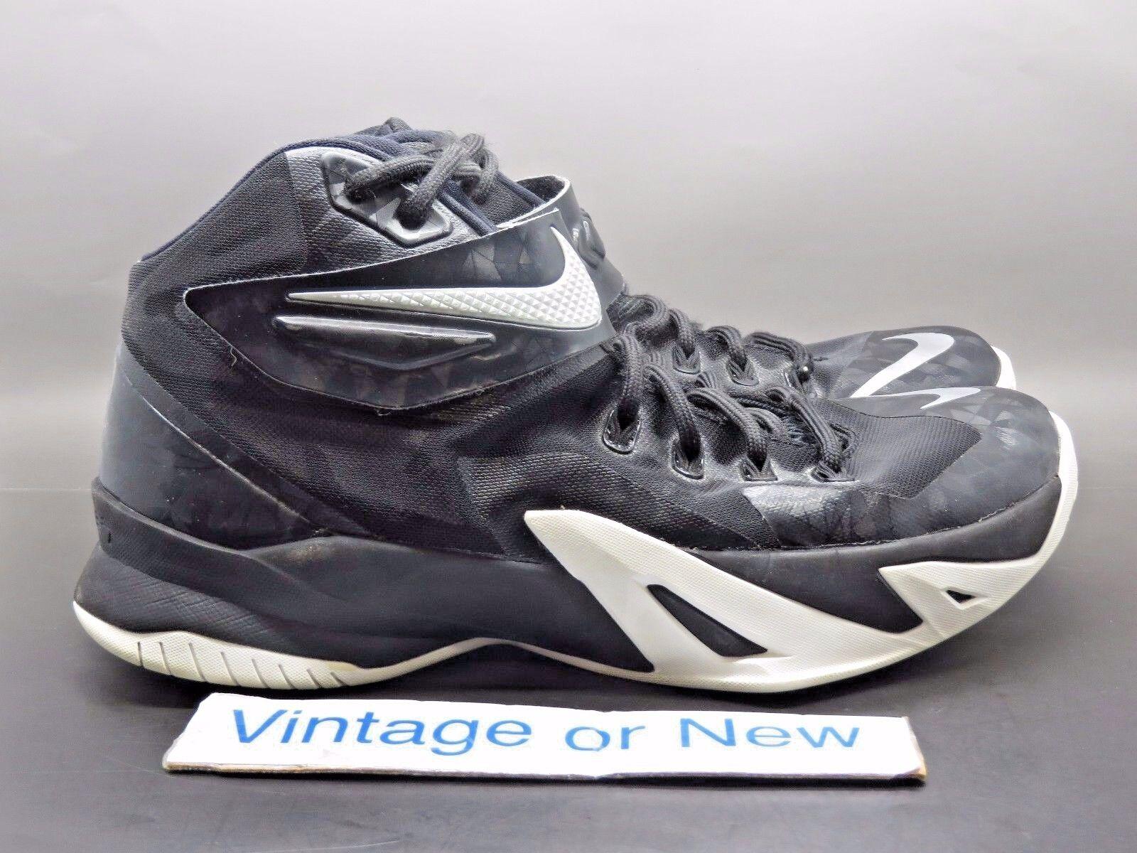 Nike zoom lebron soldato viii bianco nero argento sz 13 8