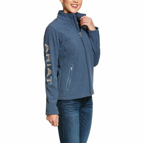 10028254  Ariat Women/'s New Team Softshell Jacket Lake Life Heather NEW