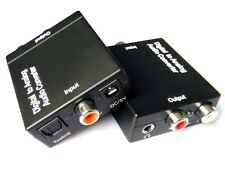 Digital Optical Coaxial Toslink Signal to Analog Audio Converter Adapter RCA USB