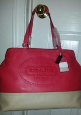 COACH  NWT Authentic Hampton Coral Sand Leather Weekend Tote Handbag - F19391