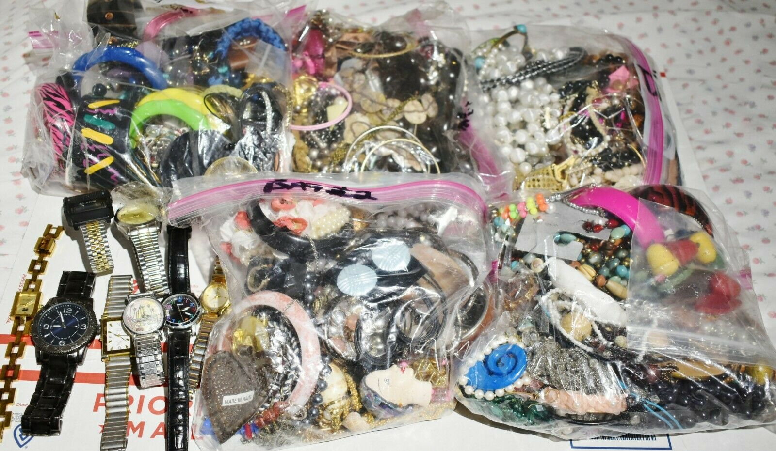 JUNK DRAWER LOT approximately 15 POUNDS COSTUME JEWELRY
