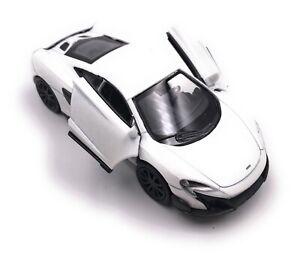 Mc-Laren-675LT-Coche-a-Escala-Deportivo-Hypercar-Auto-Blanco-Race-1-3-4