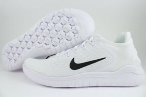 2cfe4c9ca846 NIKE FREE RUN 2018 WHITE BLACK RUNNING RN FLEX CIRCULAR KNIT US MENS ...