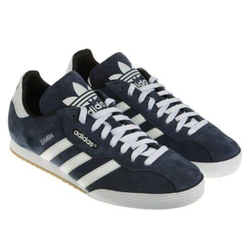 Adidas Originals Samba Super Suede Trainers - Navy Weiß - 019332 - Größe UK 7-12