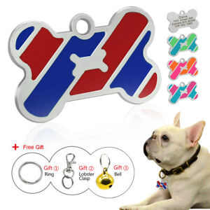 Engraved-Dog-Tags-Disc-Personalised-Custom-Bone-Shape-Pet-Cat-ID-Name-Collar-Tag