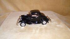 1/24 SCALE  DIE CAST MOTOR MAX  1932 FORD  3 WINDOW CUSTOM  BLACK