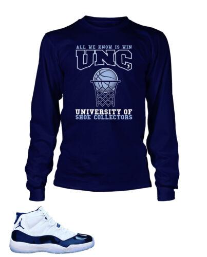 Tee Shirt To Match AIR JORDAN 11 UNC Shoe Collectors University Graphic T Shirt