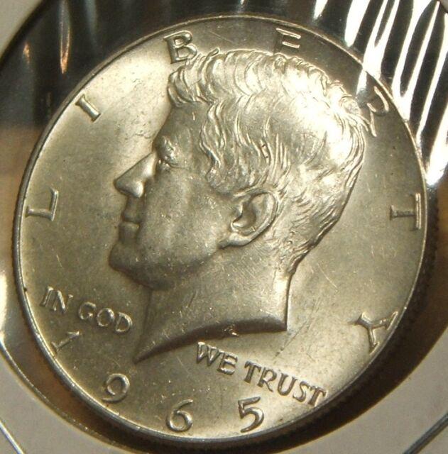 1965 Kennedy Half Dollar BU 40/% silver