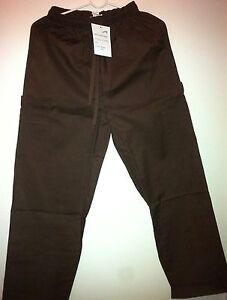 Scrubs-Pants-Brown-5-pocket-Cargo-Elastic-Waist-Delta-Uniforms