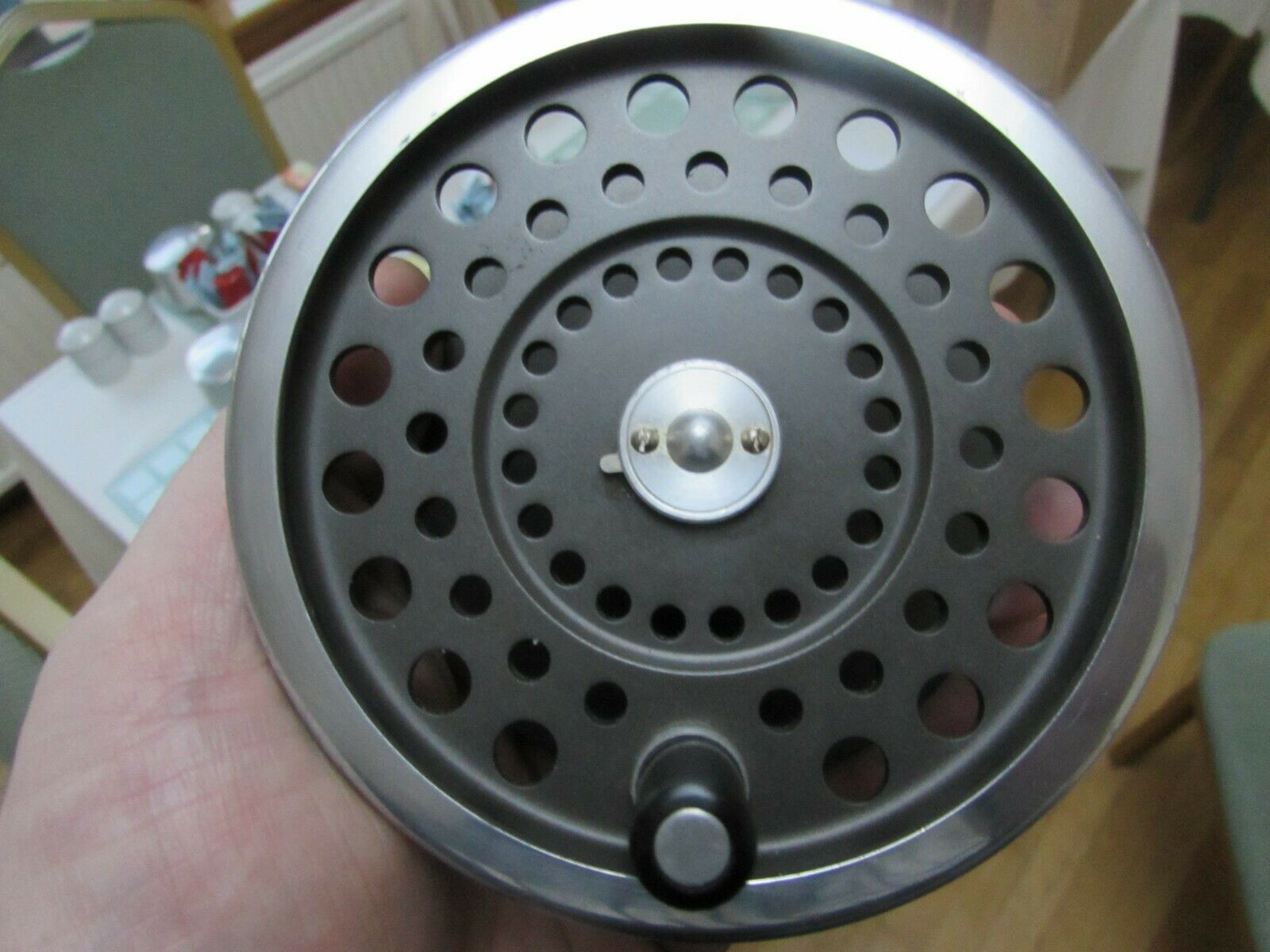 Eccellente VINTAGE Hardy Marchese no. 2 Bobina Per Salmone Fly Fishing Reel.,