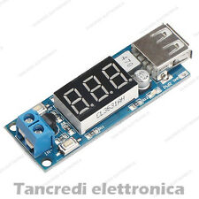 Convertitore DC-DC step down USB 5V 2A buck converter voltmeter 4.5V 40V
