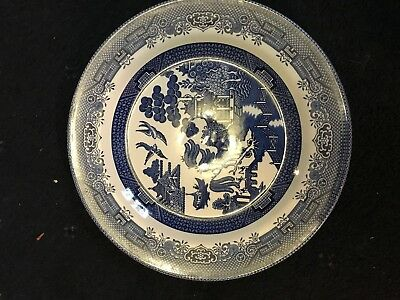 "Vintage 10 1/4"" Churchill Willow Plate Made In England Rare Collectable"