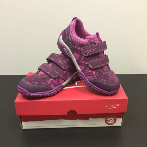 SUPERFIT Sport 4 Girls Kids Lilac//Pink Leather /& Fabric Trainers 7-00233-41