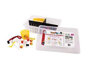 205 件 brackitz: 滑輪及曲柄 STEM 學習玩具孩子 Prek - 6 擴展套裝
