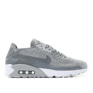 NIKE-Air-Max-90-Ultra-2-0-Flyknit-Size-10-US-Grey-Mens-Running-Shoes