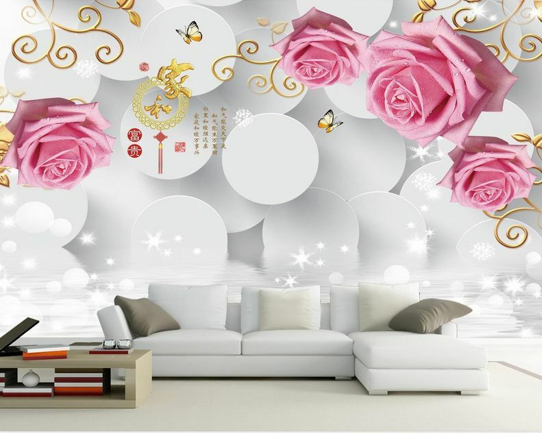 3D Roses, small butterfly 58 Wall Paper Wall Print Decal Wall Deco AJ WALLPAPER