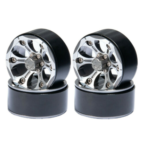 "4x 6Spoke 1.9/"" Alloy Metal Beadlock Wheel Rims for 1//10 RC 4WD D90 SCX10 Crawler"